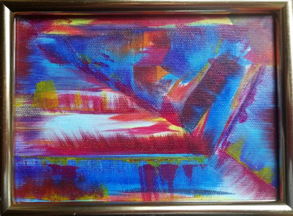 Elisabeth Six oil on canvas abstract painting