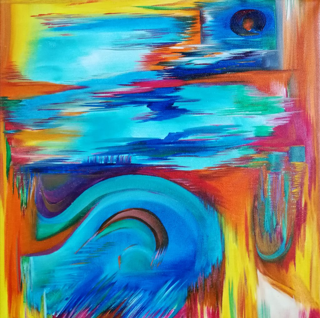 Elisabeth Six abstract painting oil on canvas
