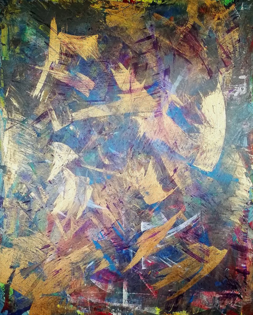 Elisabeth Six abstract painting acrylic on canvas